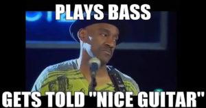 Bass player nice guitar
