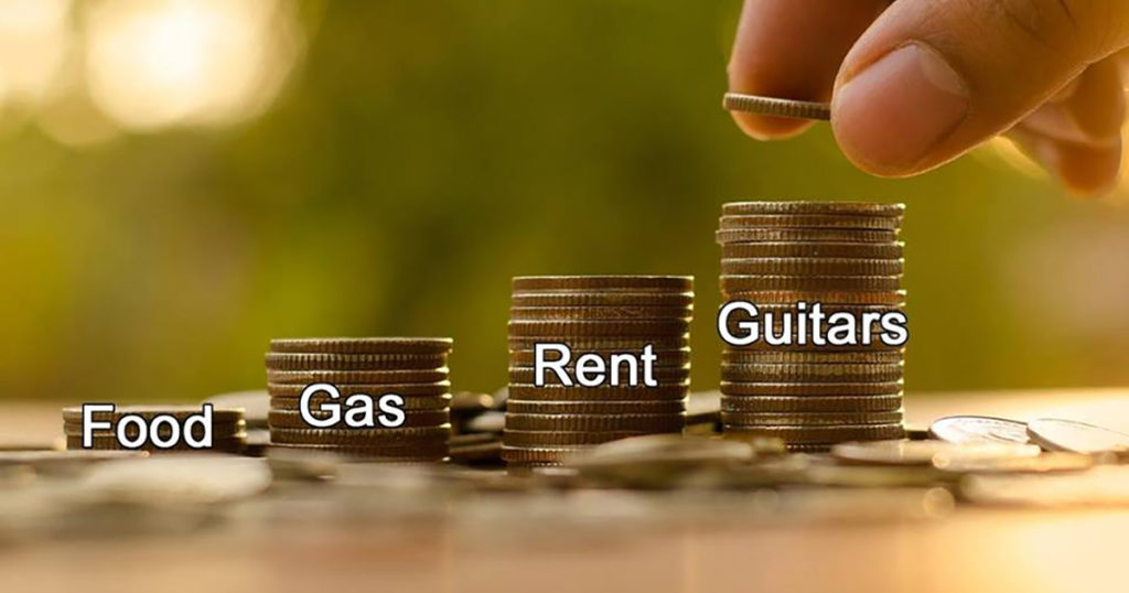 Food gas rent guitars
