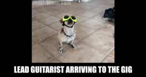 Lead guitarist arriving