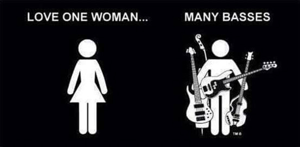 Love one woman, many basses