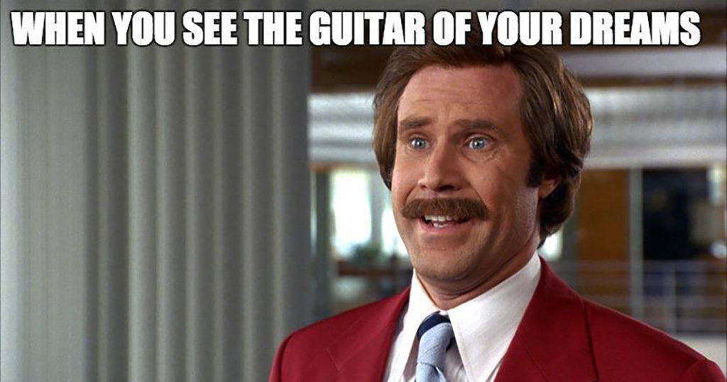 Ron Burgundy Guitar
