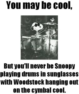 Snoopy drums