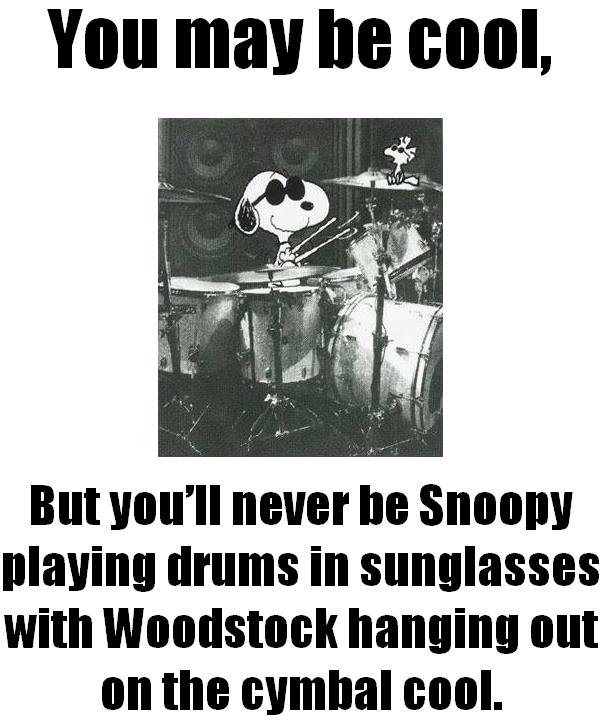 Snoopy drums
