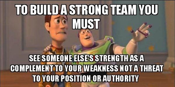 Build a strong team