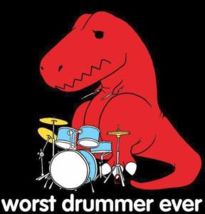 T-rex drummer