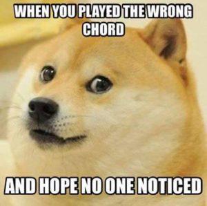 Wrong chord