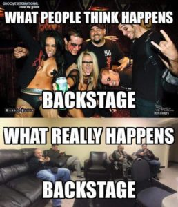 What really happens backstage