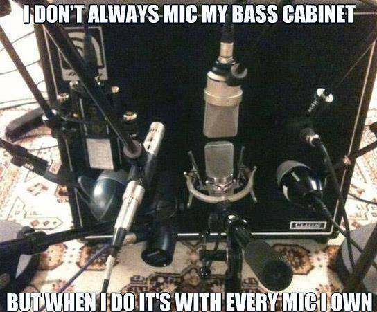 Mic the bass cabinet