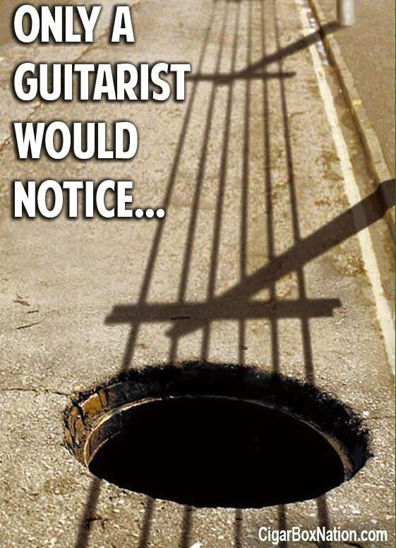 Only a guitarist would notice