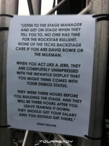 Henry Rollins advice