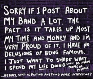 Post about my band