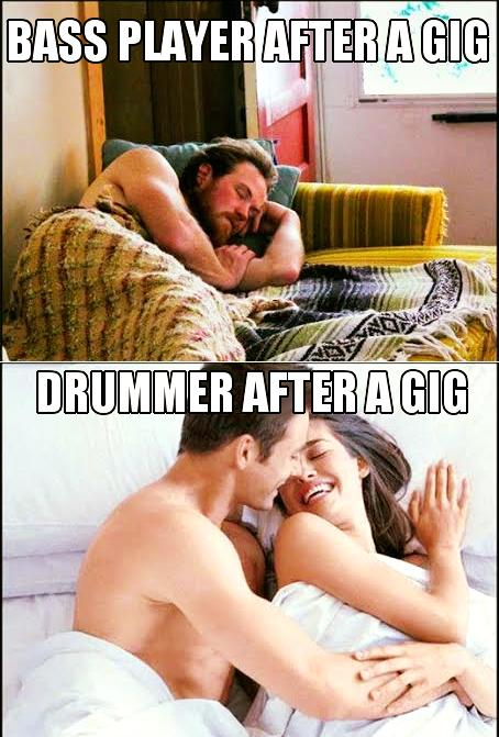 Drummer after gig