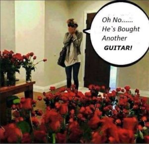 He bought another guitar