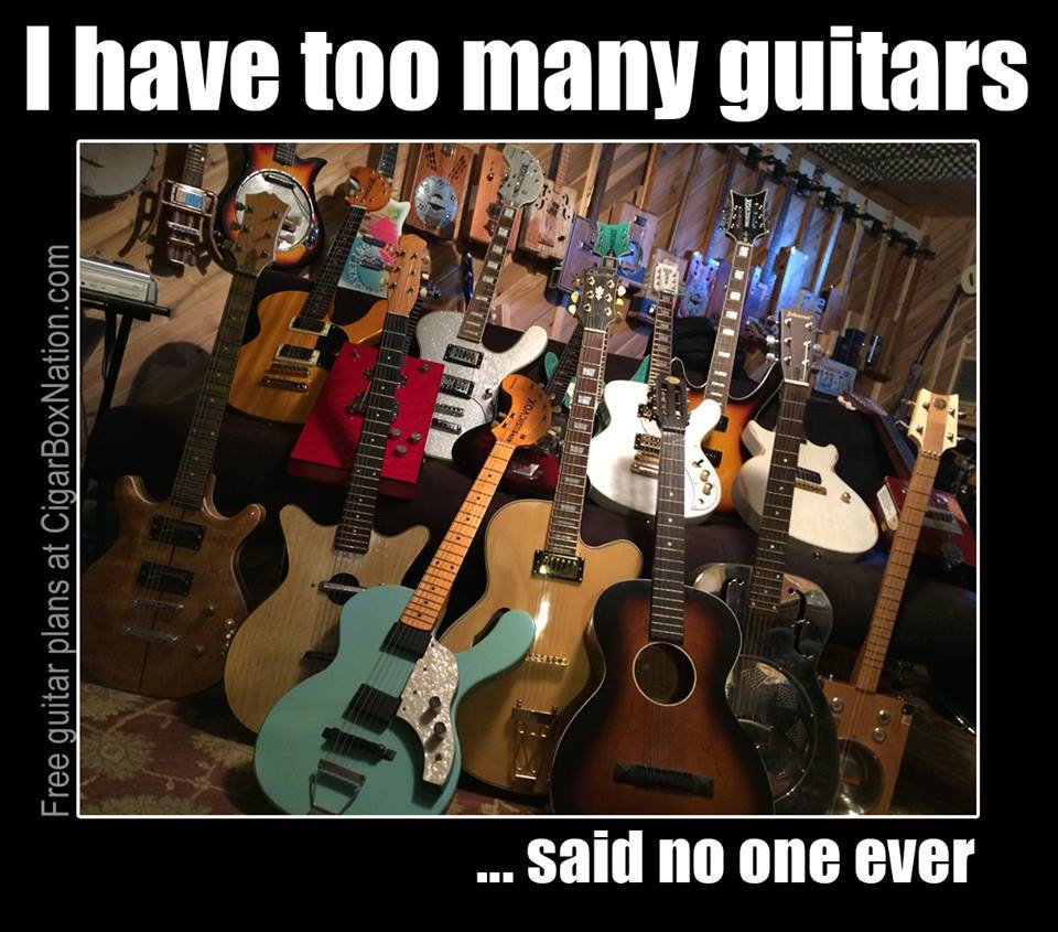 I have too many guitars