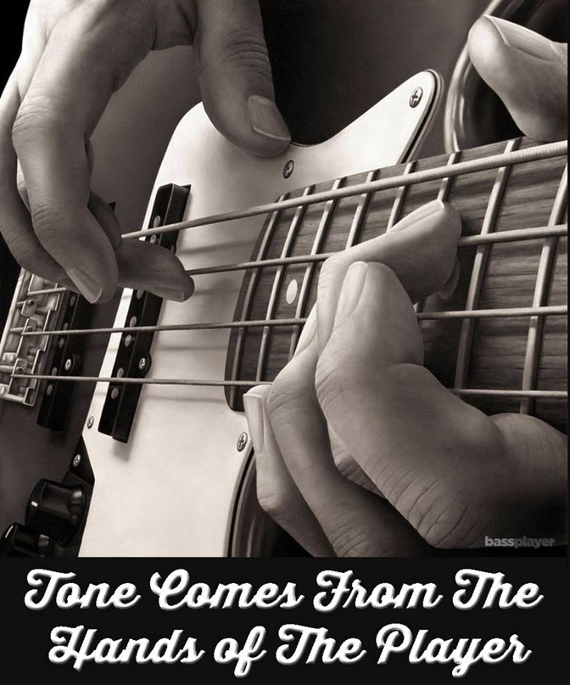 Tone comes from the hands of the player