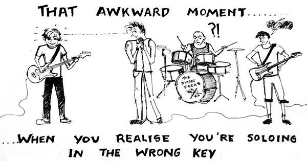Soloing in the wrong key