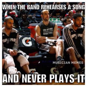 Band never plays song