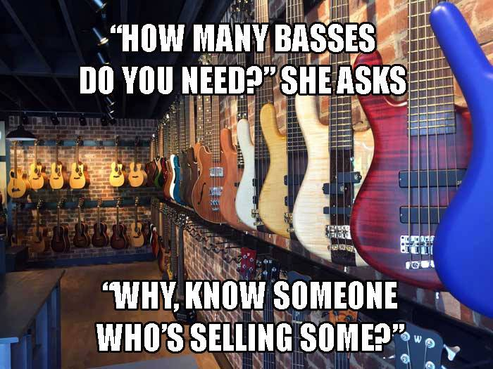 How many basses