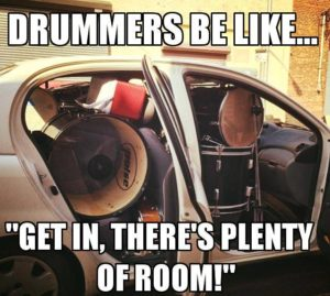 Drummers be like