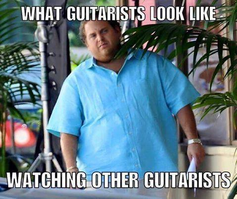 Watching other guitarists