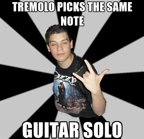 Tremolo guitar solo
