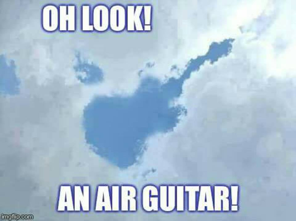 Air guitar in the sky