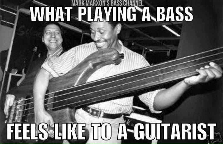 Playing a bass