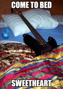 Bass in bed