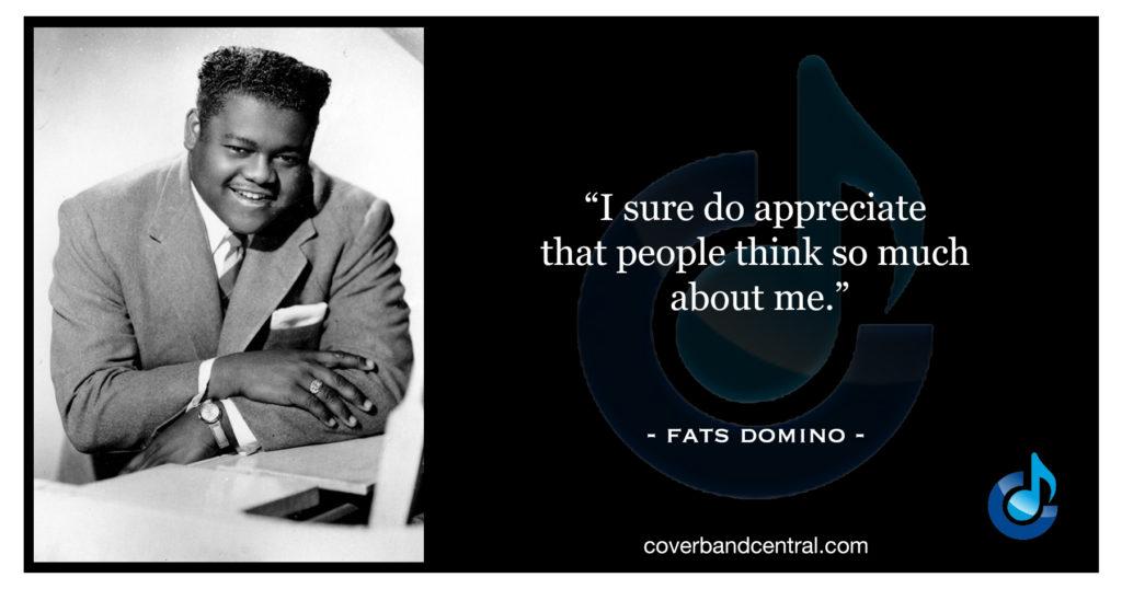 Fats Domino quote
