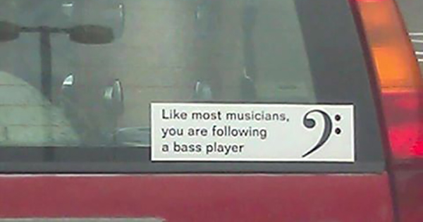 Following a bass player