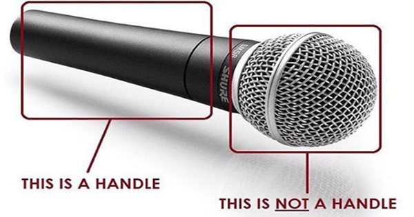 Microphone handle