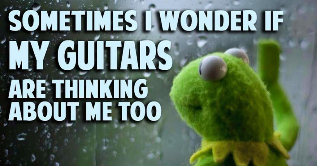 Kermit the frog guitars