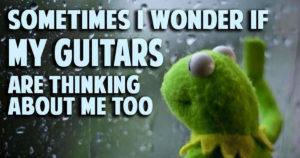Kermit the frog guitars