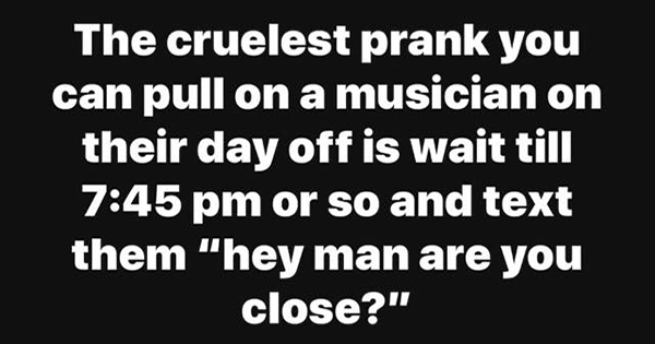 The cruelest prank