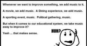 We take music away
