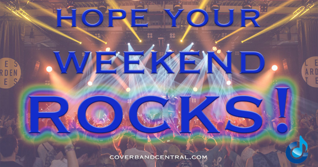 Hope your weekend rocks