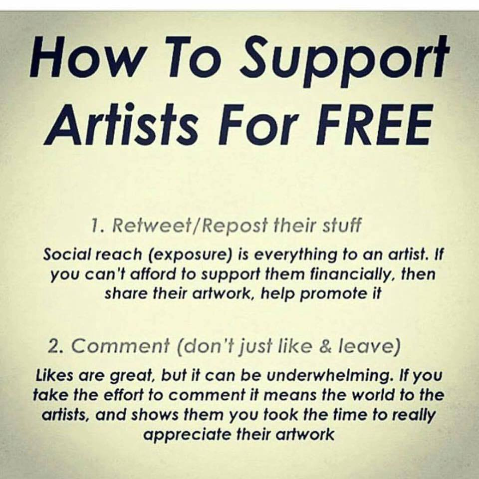How to support artists for free