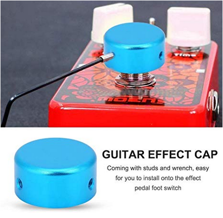 Large knobs for guitar foot pedals
