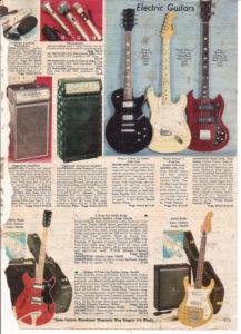 1950's Christmas Advertisement For Guitars