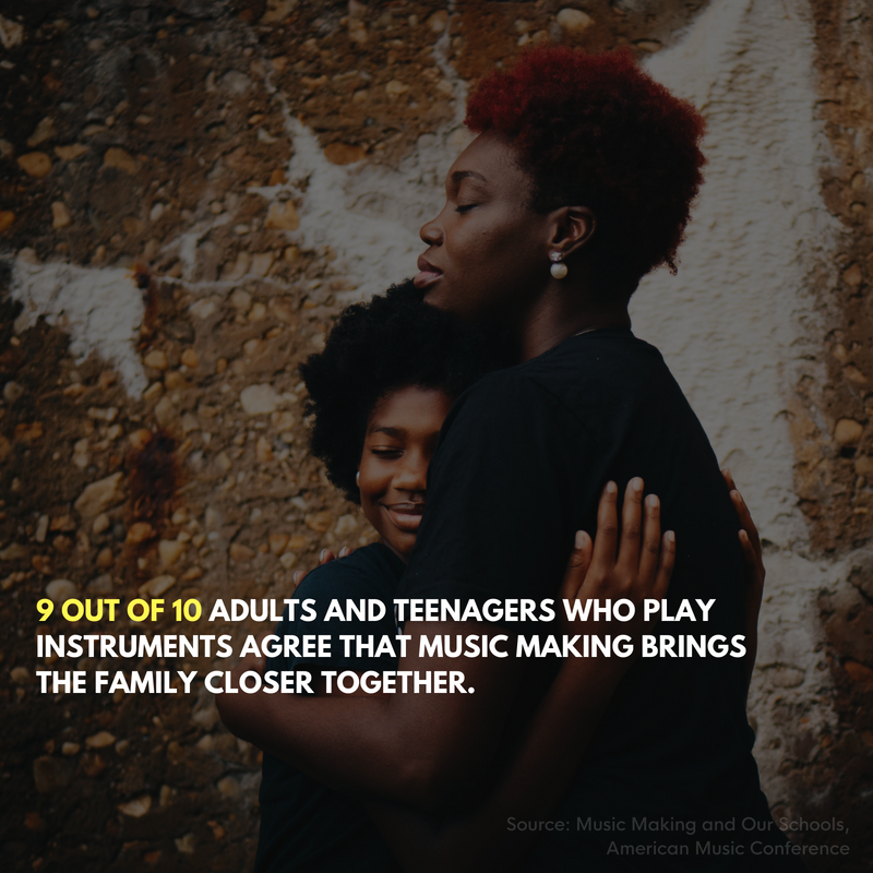 Making music brings a family closer together