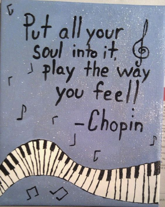 Put all your soul into it and play the way you feel