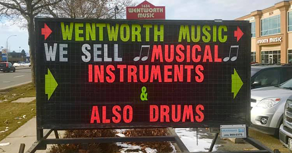 We sell musical instruments - also drums