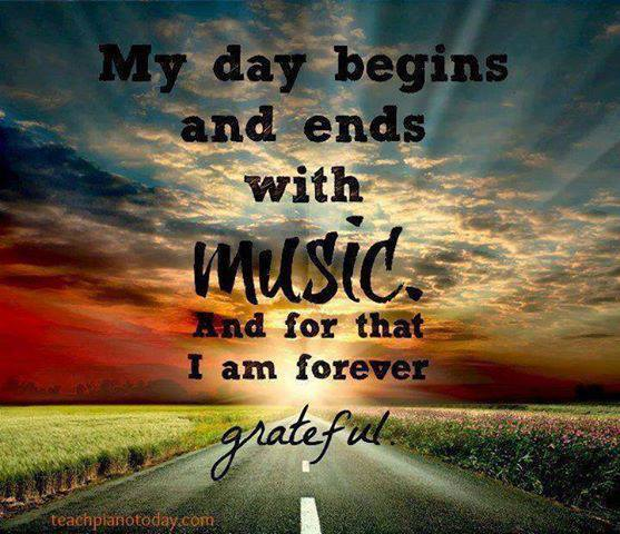 My day begins and ends with music