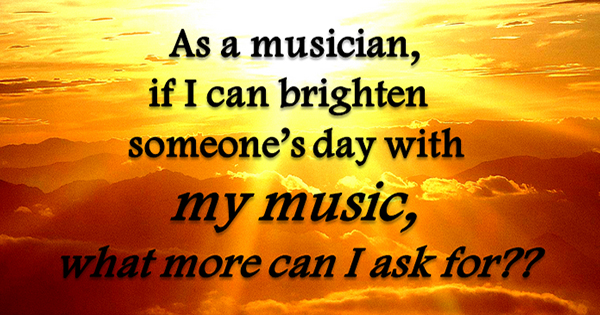Brighten someone's day with music