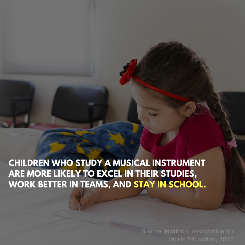 Children who study music stay in school
