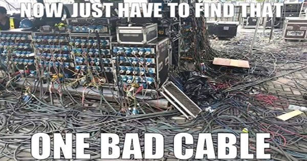 Find the one bad cable