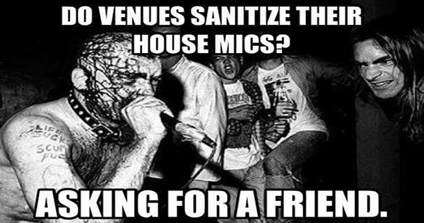 Do venues sanitize their house mics