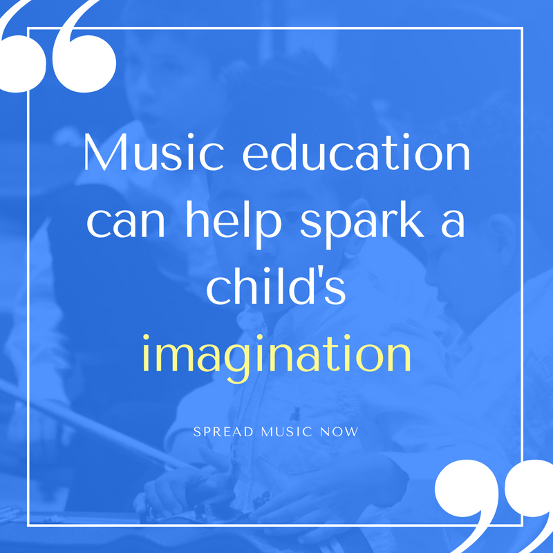 Music education can help a child's imagination