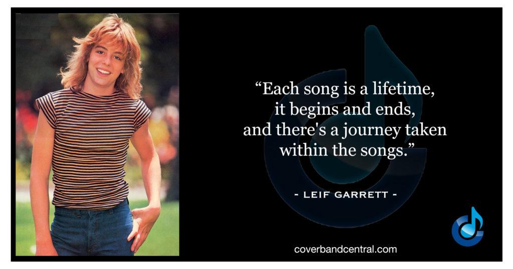 Leif Garrett quote
