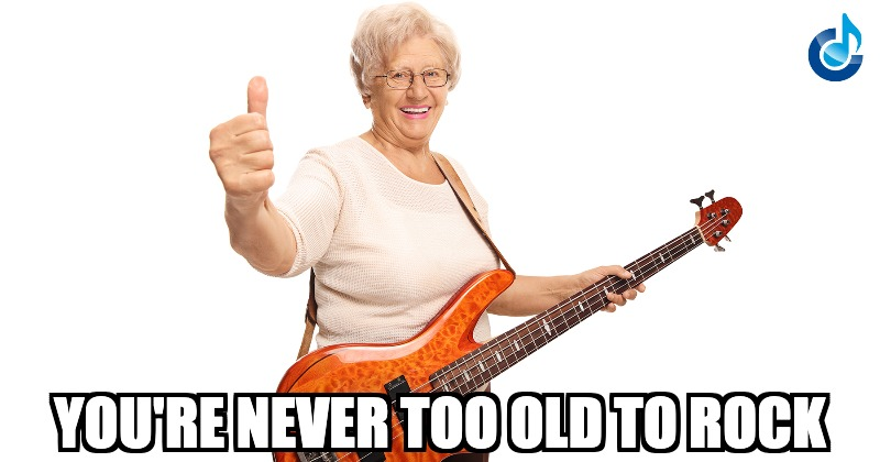 You're never too old to rock